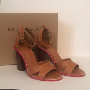 Kelsi Dagger Brooklyn Leather Heels with Red Sole